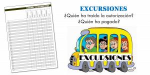 Control de excursiones escolares: autorización y pago