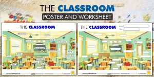 CLASSROOM VOCABULARY: Poster & Worksheet