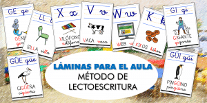 LÁMINAS PARA EL AULA: Ampliación del método de LECTOESCRITURA (IV)