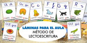 LÁMINAS PARA EL AULA: Ampliación del método de LECTOESCRITURA (II)