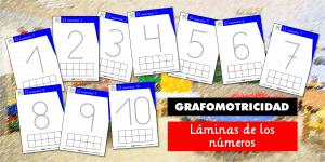 Láminas de números para Educación Infantil – GRAFOMOTRICIDAD