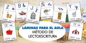 LÁMINAS PARA EL AULA: Ampliación del método de LECTOESCRITURA (III)