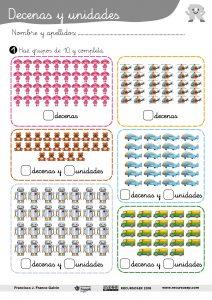 Decenas y unidades (Infantil – 1.º Primaria)