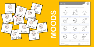 Moods – Flashcards and worksheet